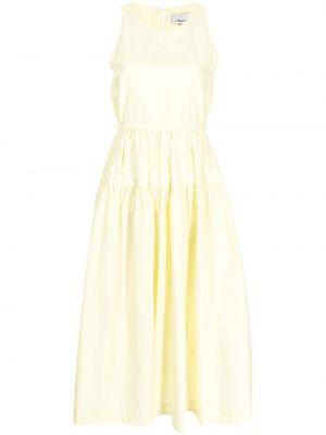 Хлопковое платье миди - желтое 3.1 Phillip Lim