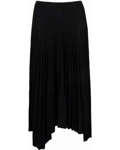 Черная с завышенной талией плиссированная юбка Mrz