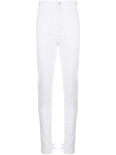 Białe jeansy z wysokim stanem bawełniane Isabel Marant