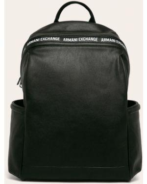 Рюкзак однотонный с узором Armani Exchange