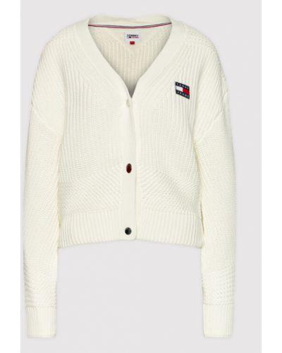 Kardigan - biały Tommy Jeans