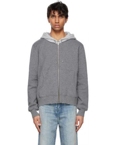 Bluza długa z kapturem z długimi rękawami bawełniana Saint Laurent