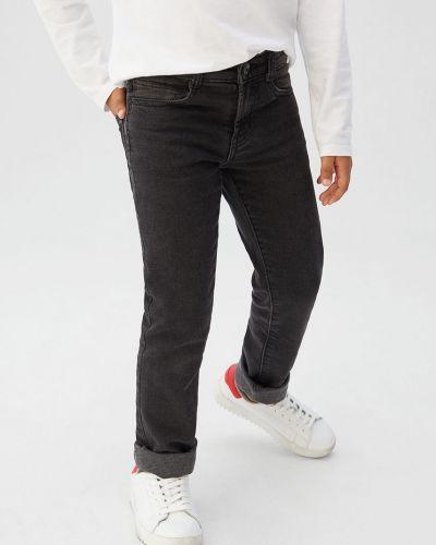 Jeansy prążkowany z wiskozy Mango Kids