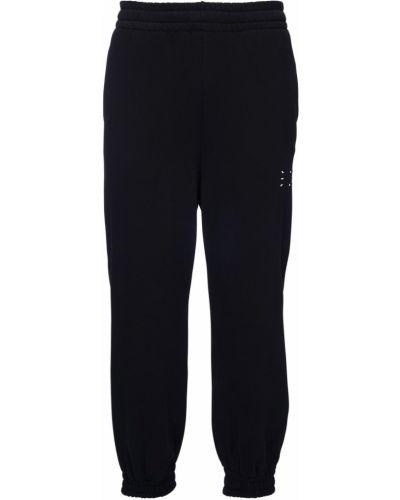 Bawełna bawełna ze sznurkiem do ściągania czarny joggery Mcq Alexander Mcqueen