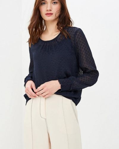 Синяя блузка с длинным рукавом Only