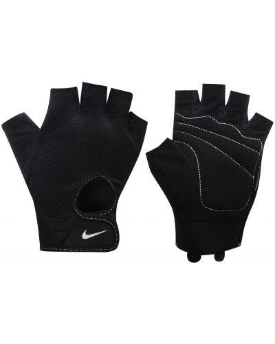 Czarne rękawiczki bez palców z nylonu Nike