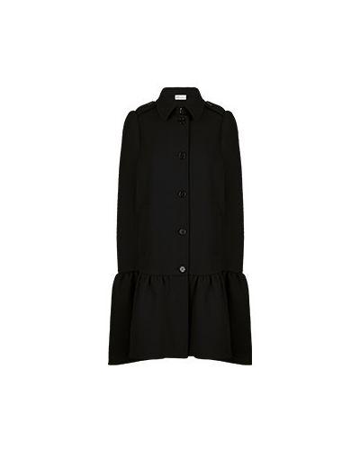 Черное шерстяное пальто Valentino Red