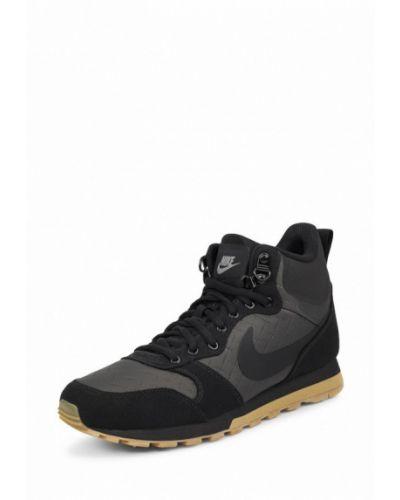 Черные высокие кроссовки Nike