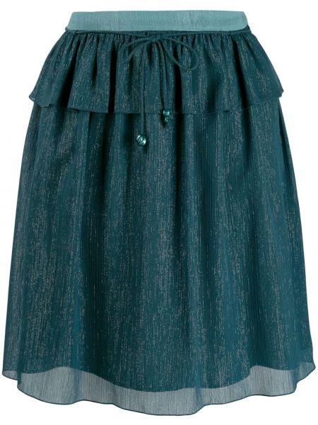Юбка мини расклешенная - синяя Kenzo
