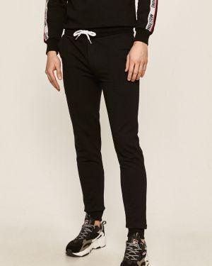 Czarne spodnie bawełniane Moschino Underwear