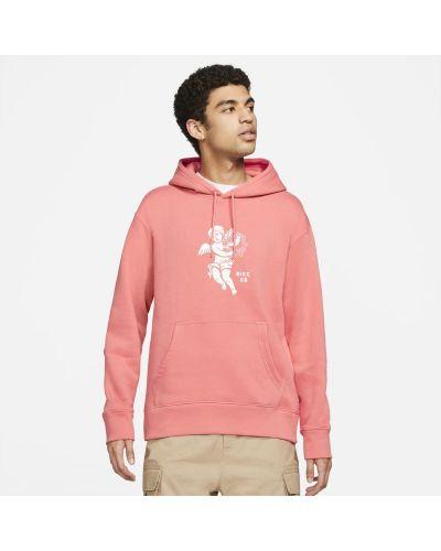 Bluza z kapturem - różowa Nike