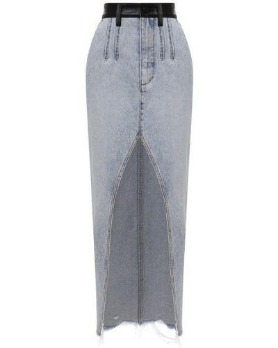 Джинсовая юбка - голубая Denim X Alexander Wang