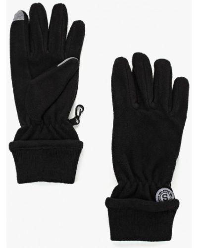 Черные перчатки текстильные Sela