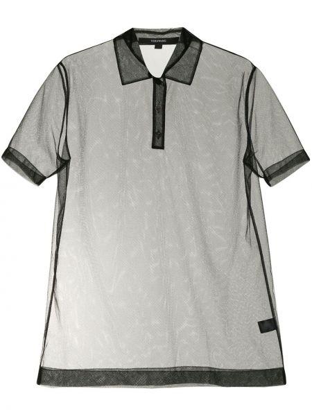 Рубашка с коротким рукавом - черная Vera Wang