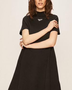 Платье мини с декольте - черное Reebok Classic