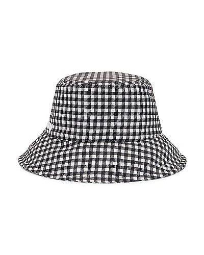 Czarny włoski kapelusz Miu Miu