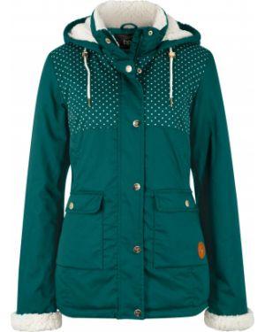 Куртка плюшевая зеленая Bonprix