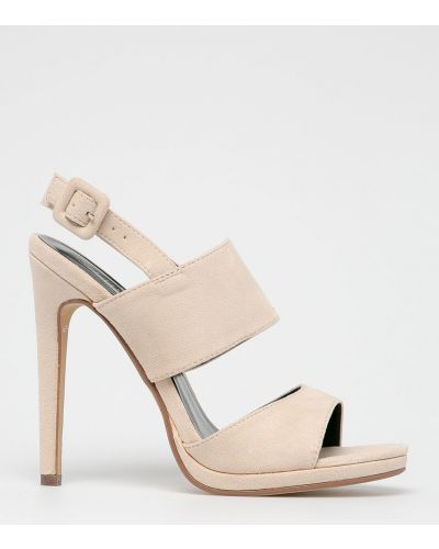 Туфли на каблуке на шпильке бежевый Answear