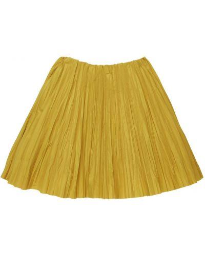 Pofałdowany żółty spódnica na gumce Tia Cibani