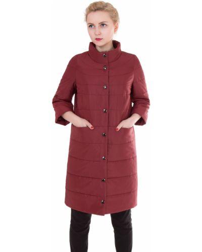 Пальто с капюшоном на кнопках прямое в полоску J-splash
