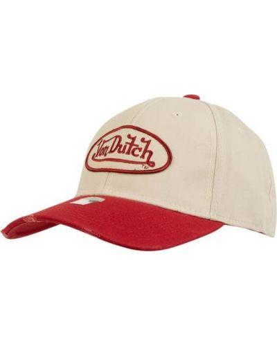 Beżowa czapka bawełniana Von Dutch