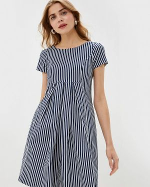 Платье прямое синее Danmaralex