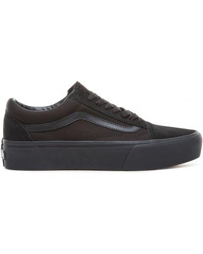 Замшевые кеды - черные Vans
