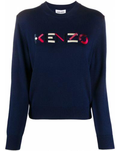 Вязаный джемпер - синий Kenzo
