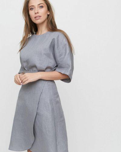Юбочный костюм льняной серый Linen Pleasure