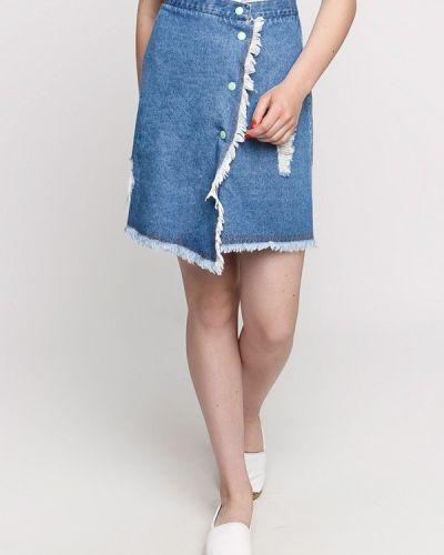 Джинсовая юбка синяя Dasti