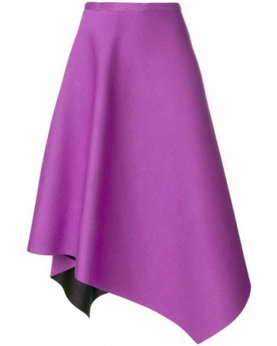 Юбка миди с завышенной талией - фиолетовая Chalayan