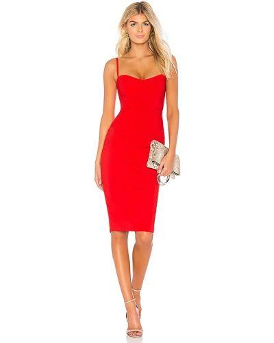 Красное платье миди с подкладкой на молнии Nookie