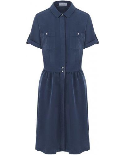 Платье рубашка приталенное с отложным воротником Van Laack