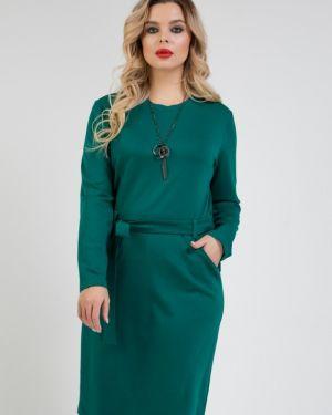 Повседневное платье с поясом платье-сарафан Ellcora