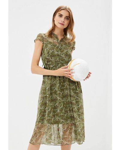 Зеленое платье льняное Lusio