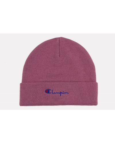 Różowa czapka z haftem z akrylu Champion