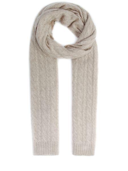 Бежевый шелковый шарф вязаный Malo