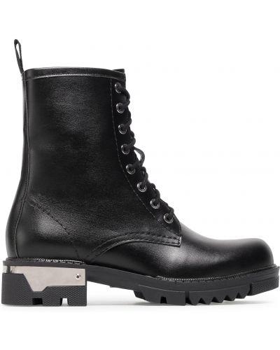 Кожаные ботинки - черные R.polański