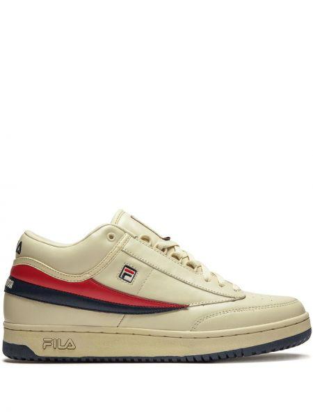 Кожаные кроссовки на шнуровке с перфорацией Fila