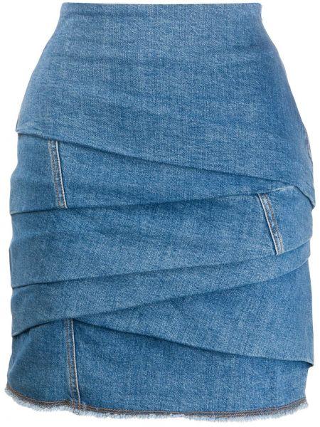 Юбка мини джинсовая с завышенной талией Philosophy Di Lorenzo Serafini