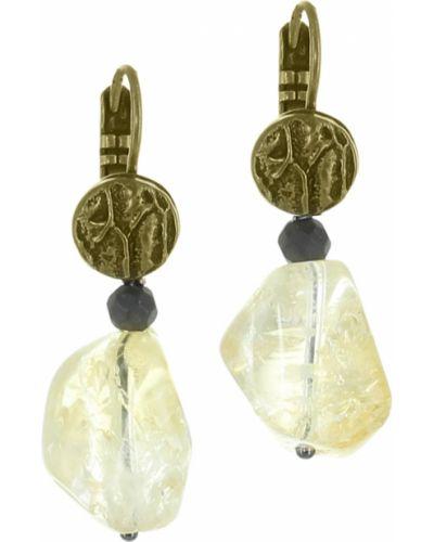 Серьги с жемчугом золотые золотой Nature Bijoux