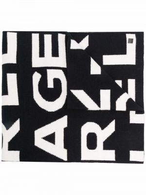 Szalik bawełniany - biały Karl Lagerfeld