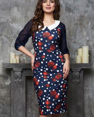 Вечернее платье футляр в горошек Bellovera