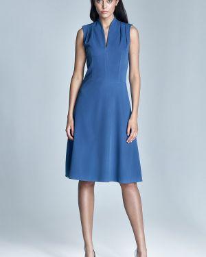 Suknia ślubna z wiskozy niebieskie Nife