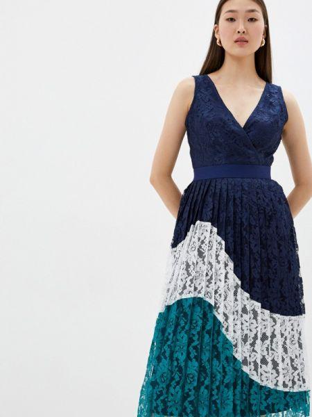 Платье прямое синее Little Mistress