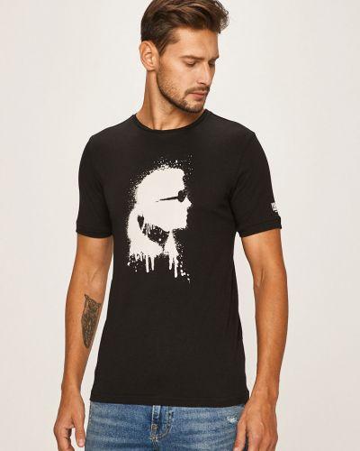Koszula z wzorem wełniany Karl Lagerfeld