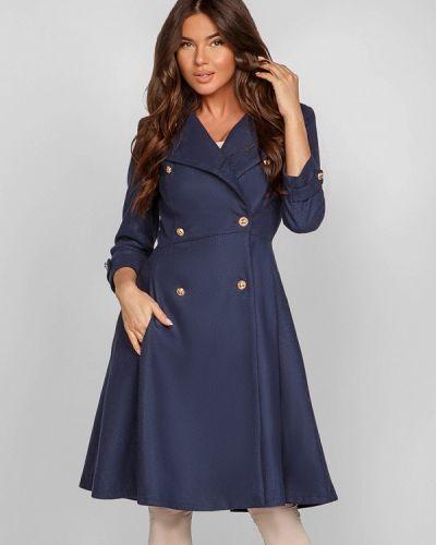 Синее пальто весеннее Gepur