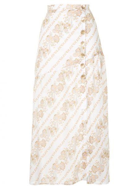 Прямая с завышенной талией юбка миди с разрезом на пуговицах We Are Kindred