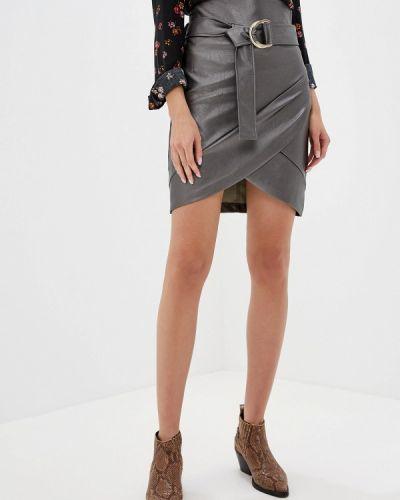 Кожаная юбка итальянский серебряный Rinascimento