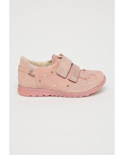 Кроссовки кожаные розовый Mrugała